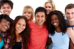 Diverse Group of Teenagers - Isolated