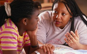 Mom Talking to Daughter 2