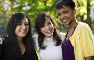 three college women